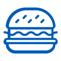 quick service restaurant burger industry icon