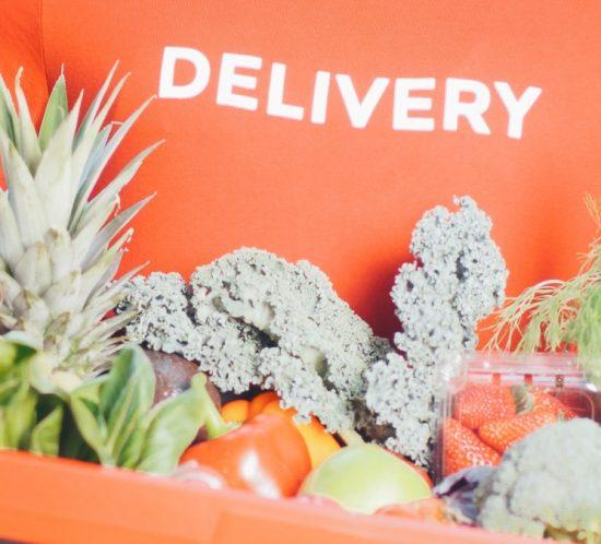 online grocery order being delivered